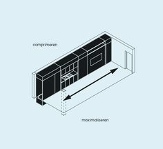 Het micro-appartement in de stad - XS Deluxe Graphic Illustration, Illustrations, Architecture Graphics, Cards, Illustration, Maps, Playing Cards, Illustrators