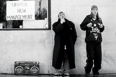 Clerks (1984) Brian O'Halloran, Jeff Anderson, Jay & Silent Bob - Director: Kevin Smith  IMDB: A day in the lives of two convenience clerks named Dante and Randal as they annoy customers, discuss movies, and play hockey on the store roof.
