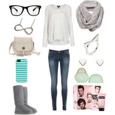 Casual comfortable outfit......except the 1D stuff (AWESOME)