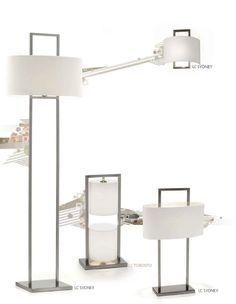 Villa Lumi | Sydney Wall Sconce, Floor and Table Lamps and Toronto Table Lamp - Candeeiros de parede, pé e mesa Sydney e Candeeiro de mesa Toronto