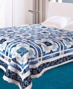 Venetian Blues by Sue Harvey and Sandy Boobar (from Quilt Trends Magazine Spring 2014 issue)