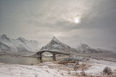 The Peak - The bridge leading from Fredvang to the Torvøya island. Lofoten, Norway (Fredvang) March 2016  ©2016 by Rafal Nebelski  I kindly ask not to use this image on websites, blogs or other media without my explicit permission – All Rights Reserved.