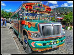 Guatemalan chicken bus