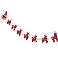 Santa and Reindeer Felt Garland Decoration | Magic Cabin