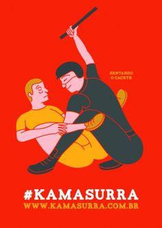 """""""Kamasurra"""" brinca com fetiche e pede fim do abuso policial em manifestações   Catraca Livre"""
