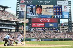 Victor Martinez hits a three run home run to left field in the 3rd inning, 08/03/2014