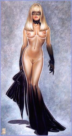 Pin-up art by Olivia de Berardinis