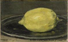 édouard manet -- le citron -- 1880 -- oil on canvas -- musée d'orsay Paul Cezanne, Edouard Manet Paintings, Lemon Art, Peter Paul Rubens, Pierre Auguste Renoir, Berthe Morisot, Monet, Edgar Degas, Food Art