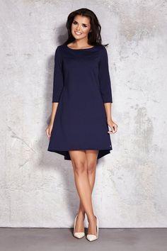 Marine Kleid / lange Ärmel / dunkelblau elegante Frau tragen / winter Kleid / lässig / basic Stil / Brautjungfer / Weihnachtsgeschenk / classic Midi
