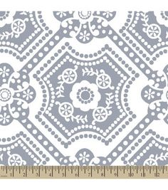 Anti Pill Fleece Fabric-Silver Dot Medallion