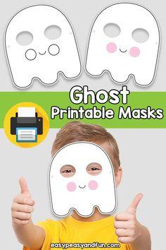 Printable Ghost Mask Template Halloween Masks, Fall Halloween, Halloween Crafts, Crafts To Do, Crafts For Kids, Paper Crafts, Printable Masks, Printables, Mask Template
