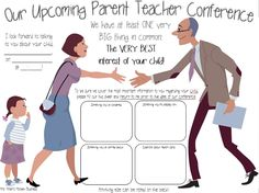 FREE Upcoming Conference Reminder Reminds Parents of Time and a GREAT Meeting from the teacher