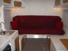 PICTURE TOUR OF EGGCAMPER Fiberglass Camper, Mini Camper, Tours, Travel, Furniture, Home Decor, Viajes, Decoration Home, Room Decor
