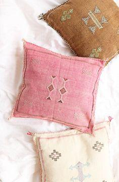 Sabra Kilim Pillowcase From Morocco – Pink Cactus Silk. From Baba Souk Boho Cushions, College Dorm Decorations, Textiles, Silk Pillow, Home And Deco, Home Decor Furniture, Home Reno, E Design, Boho Decor