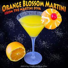 A little Gin, OJ & Cointreau = Orange Blossom Martini!