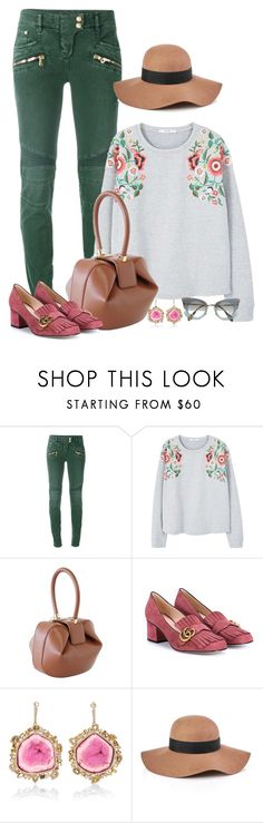 """""""Traveling in Style"""" by seafreak83 on Polyvore featuring Balmain, MANGO, Gabriela Hearst, Gucci, Kimberly McDonald, Reiss and Miu Miu"""