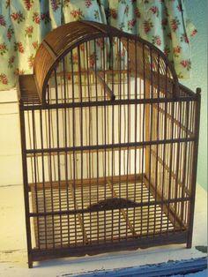 Vintage Wooden Birdcage by MadisonRoseVintage on Etsy, $49.00