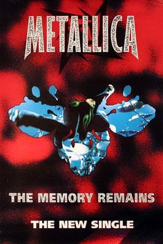 METALLICA 1997 THE MEMORY REMAINS SINGLE PROMO POSTER #Poster  Link to Rock On Collectibles: http://stores.ebay.com/Rock-On-Collectibles/Metal-Posters-/_i.html?_fsub=19452565&_sid=70220124&_trksid=p4634.c0.m322