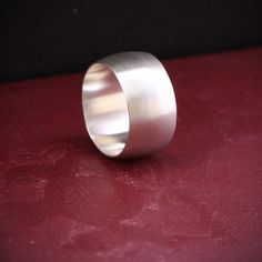Wide silver ring modern simple and trendy by bluehourdesigns, $60.00