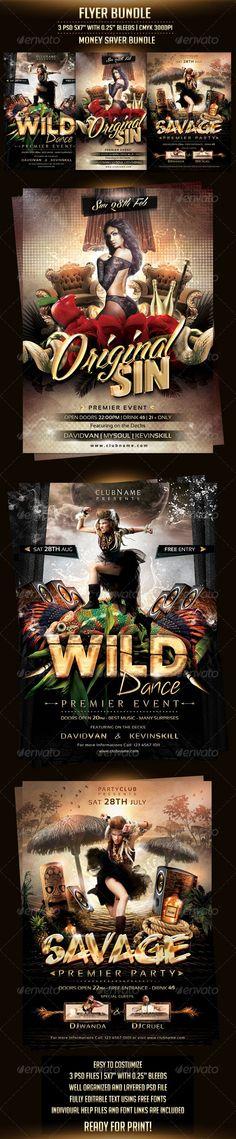 Flyer Bundle ...  advertisement, best, bundle, celebration, club, colorful, dance, dj, event, flyer, fresh, fun, girl, holiday, hot, nightclub, party, print, red, rock, savage, template, tribal, wild. roses