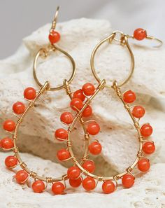 I love coral earrings