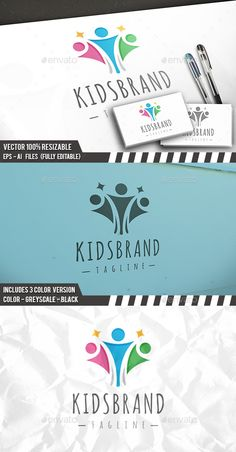 Kids Brand Logo — Vector EPS #media #charity • Available here → https://graphicriver.net/item/kids-brand-logo/14109318?ref=pxcr