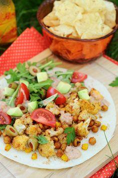 Roasted Cauliflower Tacos with Creamy Salsa {Vegan, Gluten-Free}