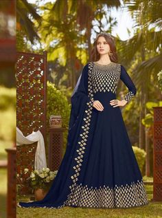 RAMA D.NO.-20032 RATE : 2385 - RAMA FASHION RAAZI VOL 8  RAMA 20025-20032 SERIES  GEORGETTE EMBROIDERED TRADITIONAL OCCASIONALLY FASHION PARTY WEDDING WEAR INDIAN WOMEN FASHION ANARKALI DRESS AT WHOLESALE PRICE AT DSTYLE ICON FASHION CONTACT: +917698955723 - DStyle Icon Fashion