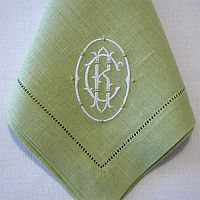 vintage blue c monogrammed white linen handkerchief 1000 via etsy monograms pinterest handkerchiefs monograms and linens - Linen Monogrammed Napkins