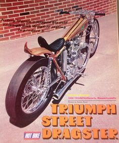 and drag bikes pics. - The Jockey Journal Board Triumph Chopper, Triumph Motorcycles, Custom Motorcycles, Custom Bikes, Bike Style, Motorcycle Style, Motorcycle Quotes, Trike Scooter, Old School Chopper