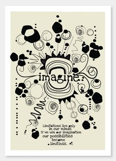 Items similar to Imagine - - - art print and illustration by Sophia Georgopoulou on Etsy Daily Thoughts, Thought Of The Day, Art Drawings, Art Prints, Unique Jewelry, Handmade Gifts, A4, Illustration, Blog