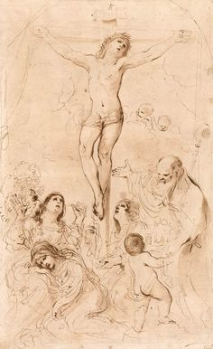 Giovanni Francesco Barbieri, called Il Guercino   1591-1666   Christ Crucified   The Morgan Library & Museum