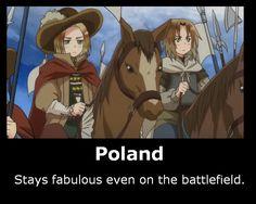Poland still fabulous~ by SailorSetsuna on DeviantArt <<< reminds me of John Burgoyne Kuroko, Poland Hetalia, Hetalia Characters, Fictional Characters, Bad Touch Trio, Hetaoni, Valley Girls, Hetalia Axis Powers, Canada