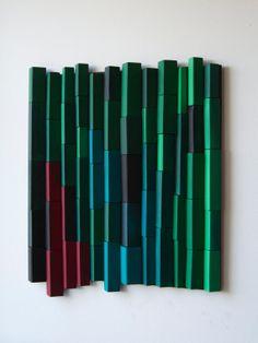 Ripples   Emerald Forest / Original Modern Art /  3D di DecoBoxRo, $199.00