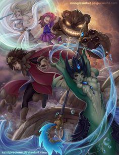 Elemental Ladies - League of Legends by SaintPrecious