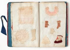Ellen Mahon's sampler book was made between 1852 and 1854. It shows off her embroidery skills, and includes some exquisitely made dolls clothes, such as a tiny knitted glove and a stocking.  Although not a toy, samplers have been part of the education of young women for centuries. Working class girls would have been encouraged to learn the valuable skills of embroidery and lacemaking as soon as they could, to earn an income for the family. Their sample books were tools of their trade.