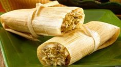 Are you looking recipes for tamales ? Tamales is a traditional food originating in Mexico, made usually with corn dough which is wrapped in leaves and steamed. There are many variations of recipes for