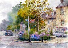 """Woodstock, corner with lavender, England"" By Kiyoharu Narazaki, from Fukuoka-shi, Japan"