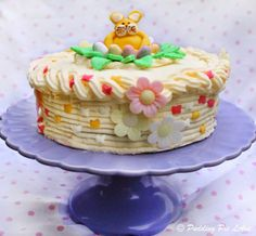Easter bunny frosted cake, just in time for Easter!