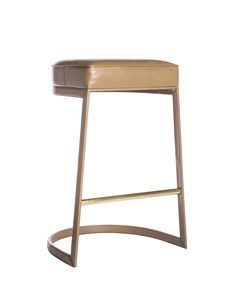 geo Bar Stool - love the shape and pop of gold at the foot rest