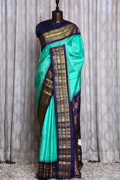 Silk Saree Blouse Designs, Fancy Blouse Designs, Bridal Blouse Designs, Gadwal Sarees Silk, Kanjivaram Sarees Silk, Pochampally Sarees, Indian Bridal Sarees, Wedding Silk Saree, Saree Color Combinations