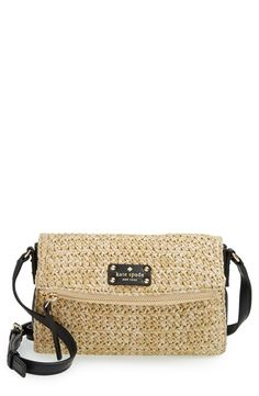 'cobble hill straw - mini carson' crossbody bag