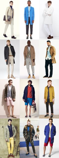 Men's Long Length Jackets and Outerwear - Spring/Summer 2014 Outfit Lookbook