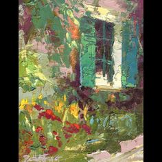 Claude Monet's View by Beth Forst • I came by her tent at a local art fair. She's pretty awesome