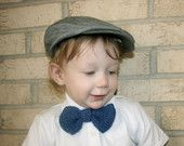 Crocheted bow tie for little boys - navy blue - free shipping