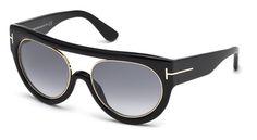 Tom Ford for woman ft0360  - 01B (nero lucido/fumo grad), Designer Sunglasses Caliber 55