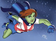 Miss Martian by on deviantART Superboy And Miss Martian, The Martian, Marvel Cinematic Universe, Dc Universe, Young Justice League, Captain Marvel Shazam, The New Teen Titans, Talia Al Ghul, Hq Dc