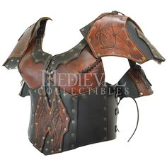 Valkyrie's Armor with Pauldrons - Leather Armor for LARP Viking Armor, Larp Armor, Medieval Armor, Cosplay Armor, Knight Armor, Leather Armor, Leather Corset, Corset Style Tops, Female Armor