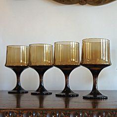 pristine cond! vintage barware Set6 vintage mid century Swedish thin-edge crystal smoke coupe glasses 6oz sherbet  wirkkala era