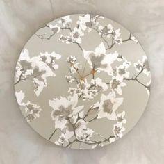 Water Magnolia Clock - 60cm Shop Clocks - Kirsty Badenhorst Interiors | Ikat & Ivory | Online Store Ikat, Clocks, Magnolia, Decorative Plates, Ivory, Interiors, Water, Handmade, Shopping